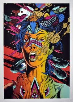 "Bicicleta Sem Freio Limited Edition Screen Print ""Providence"""