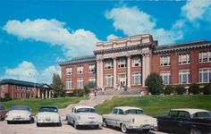 Murrah Hall @ Millsaps College in Jackson, MS 1950s Car, Jackson Mississippi, Southern Heritage, Future Travel, Gas Station, Vintage Postcards, Travel Destinations, Mansions, Ms