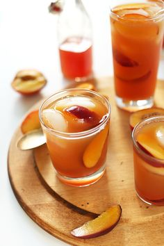 Perfect sweet Peached Iced Tea! Perfect for summer and pool days. #minimalistbaker