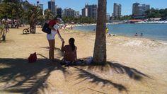 Panfletagem na Praia dos Namorados.