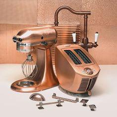 Small appliances in copper
