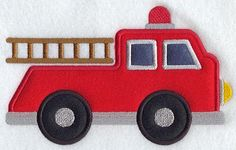 Firetruck Applique by SouthernSassyPants, via Flickr