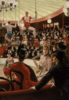 James Tissot. Circus Lover. 1885.