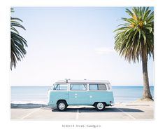 Oversized wall art - Volkswagen Camper Van on the Beach