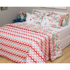 b80c3ff89b Shoptime Jogo de Cama Queen Taisy 7 Peças - Casa Conforto - 152