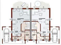 Finesse 110 - Doppelhaus von Bau Braune Inh. Sven Lehner   HausXXL Villa, Townhouse, Bungalow, House Plans, Floor Plans, Flooring, How To Plan, Home Decor, Houses