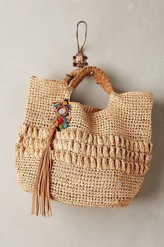 Anthropologie Lucayan Tote BagBy Flora Bella in Clothing, Shoes & Accessories, Women's Handbags & Bags, Handbags & Purses Crochet Handbags, Crochet Bags, Clutch Purse, Coin Purse, Tote Backpack, Unique Bags, Satchel Handbags, Women's Handbags, Cute Bags