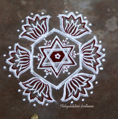 Free Hand Rangoli Design, Rangoli Designs With Dots, Rangoli Designs Images, Rangoli Designs Diwali, Beautiful Rangoli Designs, Lotus Rangoli, Indian Rangoli, Kolam Rangoli, Padi Kolam