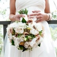 Classic cream bouquet. Great texture and tinges of green
