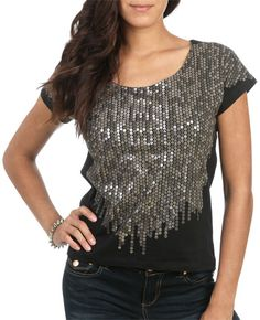Foil Sequins Shredded Top from WetSeal.com$16.50
