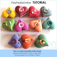 PolyPedia E-Book Vol 20 - Polymer Clay Tutorial How to create puffy beads and handmade molds using scrap clay - 22 pages by Iris Mishly