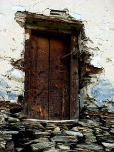 a little worse for wear but still standing, a defiant portal to where? Door Knockers, Door Knobs, Wabi Sabi, When One Door Closes, Cool Doors, Rustic Doors, Perfect World, Back To Nature, Old Wood