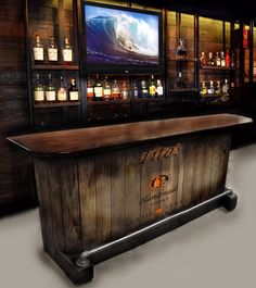 SOLD OUT home bar custom hand built rustic whiskey, pub, man cave, barn U-Ship. Built to order. Personalized logos SOLD OUT home bar custom hand built rustic whiskey pub man Man Cave Barn, Man Cave Home Bar, Rustic Man Cave, Man Cave Room, Custom Home Bars, Custom Homes, Diy Home Bar, Bars For Home, Home Made Bars