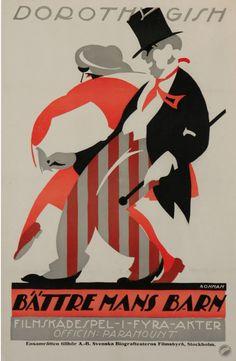 Poster by Eric Rohman (1891-1949), Bättre Mans Barn. (Swedish)