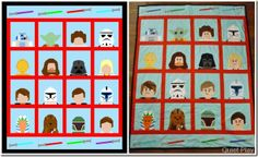 LEGO Star Wars paper pieced quilt//pattern available for free!!!!
