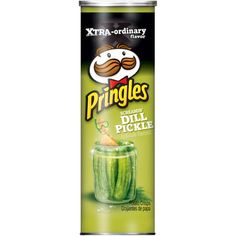 Pop open a can of Pringles Screamin' Dill Pickle and make snack time more fun with the extreme pickle flavor and satisfying crunch of the original stackable potato crisps. Pringle Flavors, Dried Potatoes, Potato Crisps, Lunch Snacks, Snack Box, Rice Flour, Doritos, Saveur, Natural Flavors