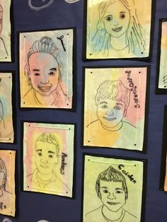 Melanie Lupien Art Class: 3rd Grade art Lesson Project on Self Portraits and watercolor paint. http://thecolorfulartpalette.blogspot.com/