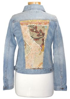 Lucky Brand Womens Jacket DIXIE Denim Jean Embroidered Stretch Blue M NEW $169 #LuckyBrand #JeanJacket
