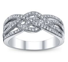 Beautiful, weaved anniversary ring.