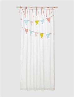 Cotton Voile Curtain White / garland