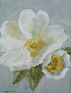 Cherokee Rose Acrylic Flowers, Abstract Flowers, Painting Inspiration, Art Inspo, Lynn Johnson, Cherokee Rose, Native American Beauty, Art Walk, Painted Leaves
