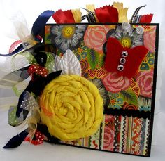 Love the flower!  Learned that technique at our last scrapbook convention.  Love the bright colors