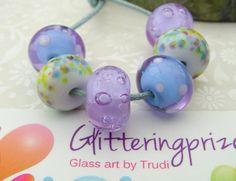Lampwork Glass Beads Maggie May UK by GlitteringprizeGlass on Etsy, £12.75
