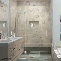 Dreamline Unidoor-X 54.5-In To 55-In Frameless Hinged Shower Door D324