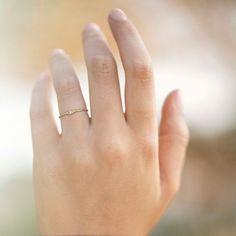 de8a33dde Gentle Love Crystal Ring [14K gold] by Keren Wolf Crystal Ring, Love Ring
