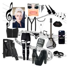 """""""Alex Johannes - Guitarist"""" by jungkookielove ❤ liked on Polyvore featuring Forever 21, Casetify, WithChic, The Rogue + The Wolf, Velvetine, WearAll, Acne Studios and Bling Jewelry"""