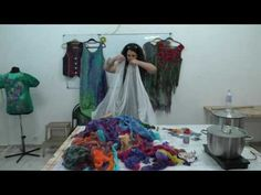 Красим марлю с Еленой Смирновой. Универсальным красителем для ткани Прибой - YouTube