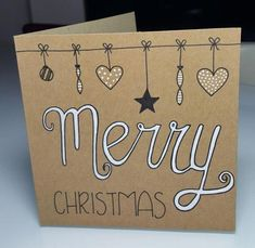 Luxurious Learn to simply create handmade Christmas playing cards Hand-drawn ornaments Christmas card You. Pinterest Christmas Cards, Simple Christmas Cards, Homemade Christmas Cards, Diy Christmas Ornaments, Diy Christmas Gifts, Homemade Cards, Christmas Crafts, Christmas Cards Handmade Kids, Snowman Crafts