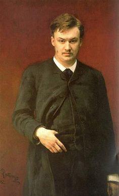 'Portret van componist Alexander Glazoenov', 1887 / Ilja Repin (1844-1930) / Russisch Museum, Sint-Petersburg, Rusland.