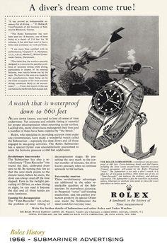 Rolex Submariner advertising. #RolexOfficial