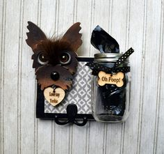 Diy poop bag dispensers help your neighbors keep the environment dog leash holder and poop bag jar cute and practical this holder combination measures solutioingenieria Choice Image