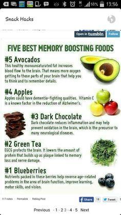 Brain food for memory Healthy Brain, Healthy Tips, Healthy Snacks, Healthy Recipes, Foods For Brain Health, Healthy Heart, Eat Healthy, Health And Nutrition, Health And Wellness