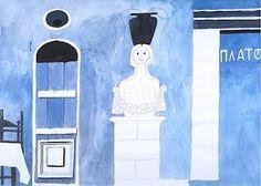 Ennae, 1979 Greece Painting, Painting Gallery, Artist Painting, Paintings, Paint, Painting Art, Painting, Painted Canvas, Drawings