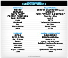 Electric Zoo 2012 - Lineup and Info - day 3 - sunday september 2 More