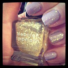 "Fairy manicure. Lavender + ""Boom Boom Pow"" by Deborah Lippmann."