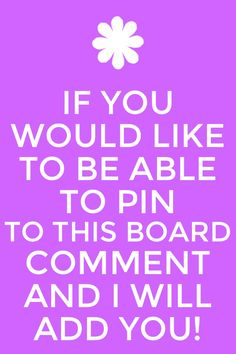 If you would like to be able to pin to this board comment and I will add u! Xoxo