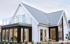 love the sunporch and deck Bungalow Conversion, House Cladding, Timber House, Exterior Remodel, Dream House Exterior, House Extensions, House Layouts, House Goals, My Dream Home