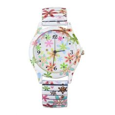 Alloy Blossom Pattern Adorn Watch