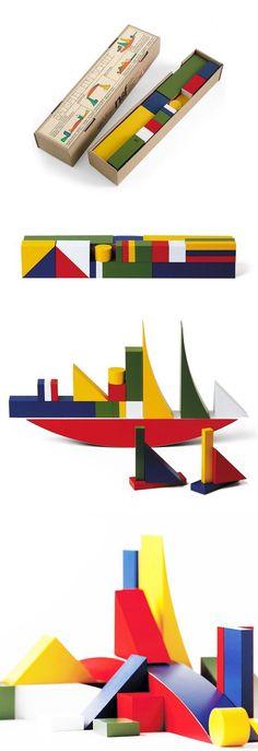 Naef Bauhaus Bauspiel Wooden Blocks Toy   NOVA68 Modern Design: