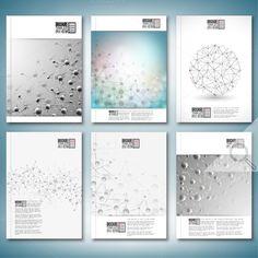 Science brochure or flyer templates by VectorShop on @creativemarket