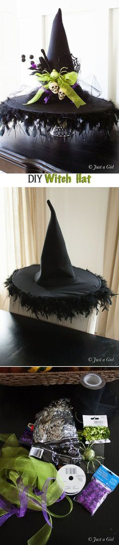A fashionista witch would only have a stylish hat. Fabulous Fashionista Halloween Soirée.  Oh, it's ON, witches!!