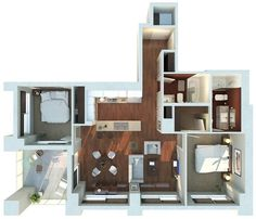 50 two 2 bedroom apartmenthouse plans