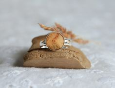 Beech wood ring sterling silver and wood inlaid by MyPieceOfWood