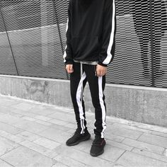 Double striped track pants from urkoolwear