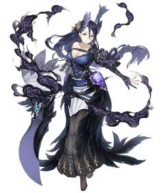 View an image titled 'Princess Kaguya, Greedy Crow Paladin Job Art' in our SINoALICE art gallery featuring official character designs, concept art, and promo pictures. Fantasy Character Design, Character Concept, Character Inspiration, Character Art, Concept Art, Cool Anime Girl, Anime Art Girl, Alice, Granblue Fantasy Characters