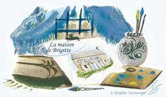 Créé pour la Maison de Brigitte, gite dans le Finistère